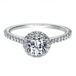 Gabriel 14 Karat Contemporary Engagement Ring ER8198W44JJ