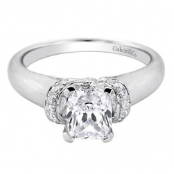 Gabriel 14 Karat Contemporary Engagement Ring ER9026W44JJ