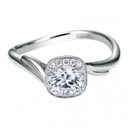 Gabriel 14 Karat Contemporary Engagement Ring ER97774W44JJ