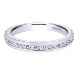 Gabriel 14 Karat Contemporary Wedding Band WB10476W44JJ