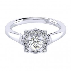 Gabriel 14 Karat Perfect Match Engagement Ring ER009A2ADW44JJ
