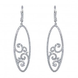 Gabriel Fashion 14 Karat Lace Drop Earrings EG11382W45JJ