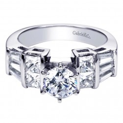 Gabriel 14 Karat Contemporary Engagement Ring ER2769W44JJ