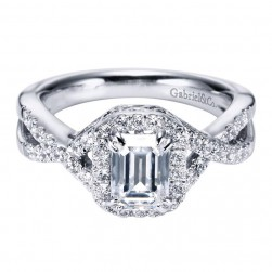 Gabriel 14 Karat Contemporary Engagement Ring ER5801W44JJ