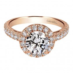 Gabriel 14 Karat Contemporary Engagement Ring ER8270K44JJ