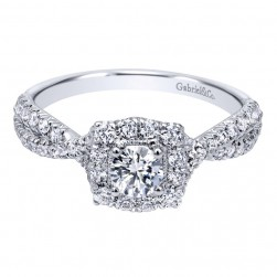 Gabriel 14 Karat Contemporary Engagement Ring ER910937W44JJ