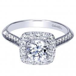 Gabriel 14 Karat Contemporary Engagement Ring ER98592W44JJ