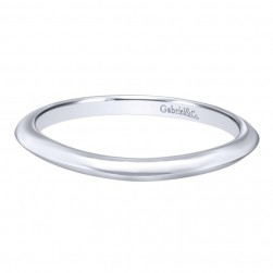 Gabriel 14 Karat Contemporary Wedding Band WB10905W4JJJ