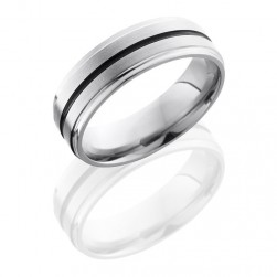 Lashbrook 7FGE11A Satin-Polish Titanium Wedding Ring or Band