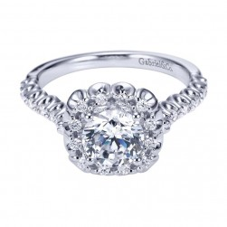 Gabriel 14 Karat Contemporary Engagement Ring ER7488W44JJ