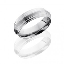 Lashbrook 7PGG Stone-Polish Titanium Wedding Ring or Band