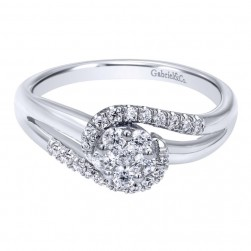 Gabriel 14 Karat Contemporary Engagement Ring ER10781W44JJ