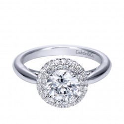 Gabriel 14 Karat Contemporary Engagement Ring ER7826W44JJ