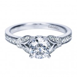Gabriel 14 Karat Contemporary Engagement Ring ER8003W44JJ