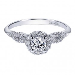 Gabriel 14 Karat Contemporary Engagement Ring ER911774R0W44JJ