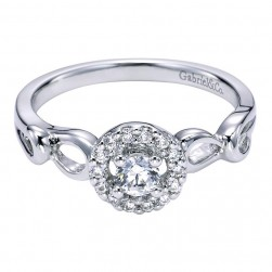 Gabriel 14 Karat Contemporary Engagement Ring ER95732W44JJ