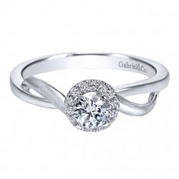 Gabriel 14 Karat Contemporary Engagement Ring ER97719W44JJ