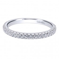 Gabriel 14 Karat Contemporary Wedding Band WB10283W44JJ