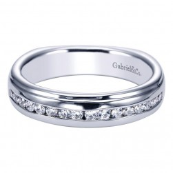 Gabriel 14 Karat Contemporary Wedding Band WB4194W44JJ
