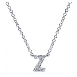 Gabriel Fashion 14 Karat Initial Initial Necklace NK4577Z-W45JJ