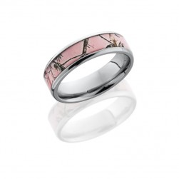 Lashbrook 6B14(NS)/PINKRTAP POLISH Camo Wedding Ring or Band