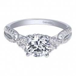 Gabriel 14 Karat Contemporary Engagement Ring ER10477W44JJ