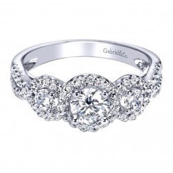 Gabriel 14 Karat Contemporary Engagement Ring ER95339W44JJ