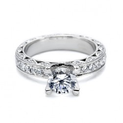 Tacori Platinum Crescent Silhouette Engagement Ring HT2229A