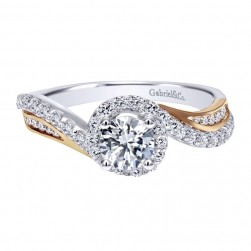 Gabriel 14 Karat Contemporary Engagement Ring ER11834R2T44JJ