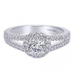 Gabriel 14 Karat Contemporary Engagement Ring ER95425W44JJ