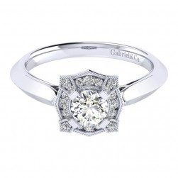 Gabriel 14 Karat Perfect Match Engagement Ring ER001A2ADW44JJ