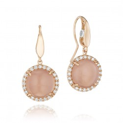 SE189P36 Tacori Moon Rose Gold Earrings