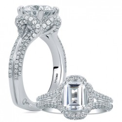 A.JAFFE Platinum Signature Engagement Ring MES683