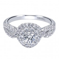 Gabriel 14 Karat Contemporary Engagement Ring ER910158W44JJ