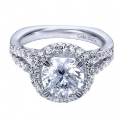 Gabriel 14 Karat Contemporary Engagement Ring ER4108W44JJ
