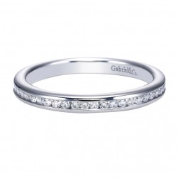 Gabriel 14 Karat Contemporary Wedding Band WB7449W44JJ