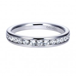 Gabriel 14 Karat Contemporary Wedding Band WB8224W44JJ