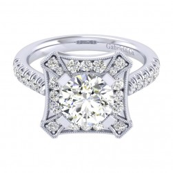 Gabriel 14 Karat Perfect Match Engagement Ring ER039C8AEW44JJ