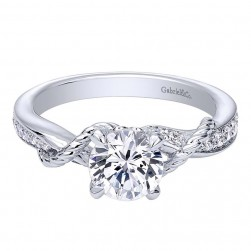 Gabriel 14 Karat Contemporary Engagement Ring ER10267W44JJ