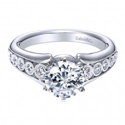 Gabriel 14 Karat Contemporary Engagement Ring ER6030W44JJ