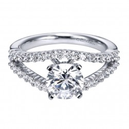 Gabriel 14 Karat Contemporary Engagement Ring ER6079W44JJ
