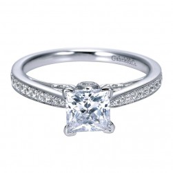 Gabriel 14 Karat Contemporary Engagement Ring ER8000W44JJ