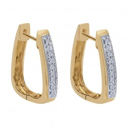 Gabriel Fashion 14 Karat Huggies Huggie Earrings EG9148Y45JJ