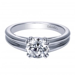 Gabriel Platinum Contemporary Engagement Ring ER8135PTJJJ