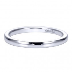 Gabriel 14 Karat Contemporary Wedding Band WB8076W4JJJ