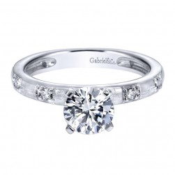 Gabriel 14 Karat Contemporary Engagement Ring ER5668W44JJ