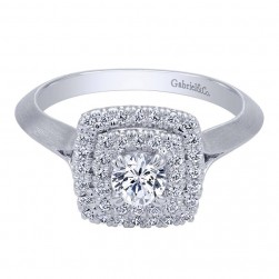 Gabriel 14 Karat Contemporary Engagement Ring ER910159W44JJ