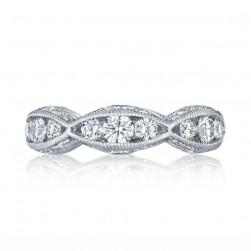 Tacori 2644B5 18 Karat Classic Crescent Diamond Wedding Ring