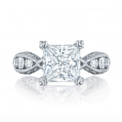2644PR834 Platinum Tacori Classic Crescent Engagement Ring
