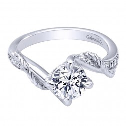 Gabriel 14 Karat Contemporary Engagement Ring ER10265W44JJ
